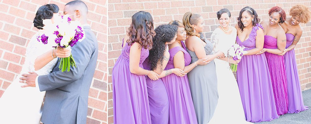 Plum Accents with Color Wedding Dresses