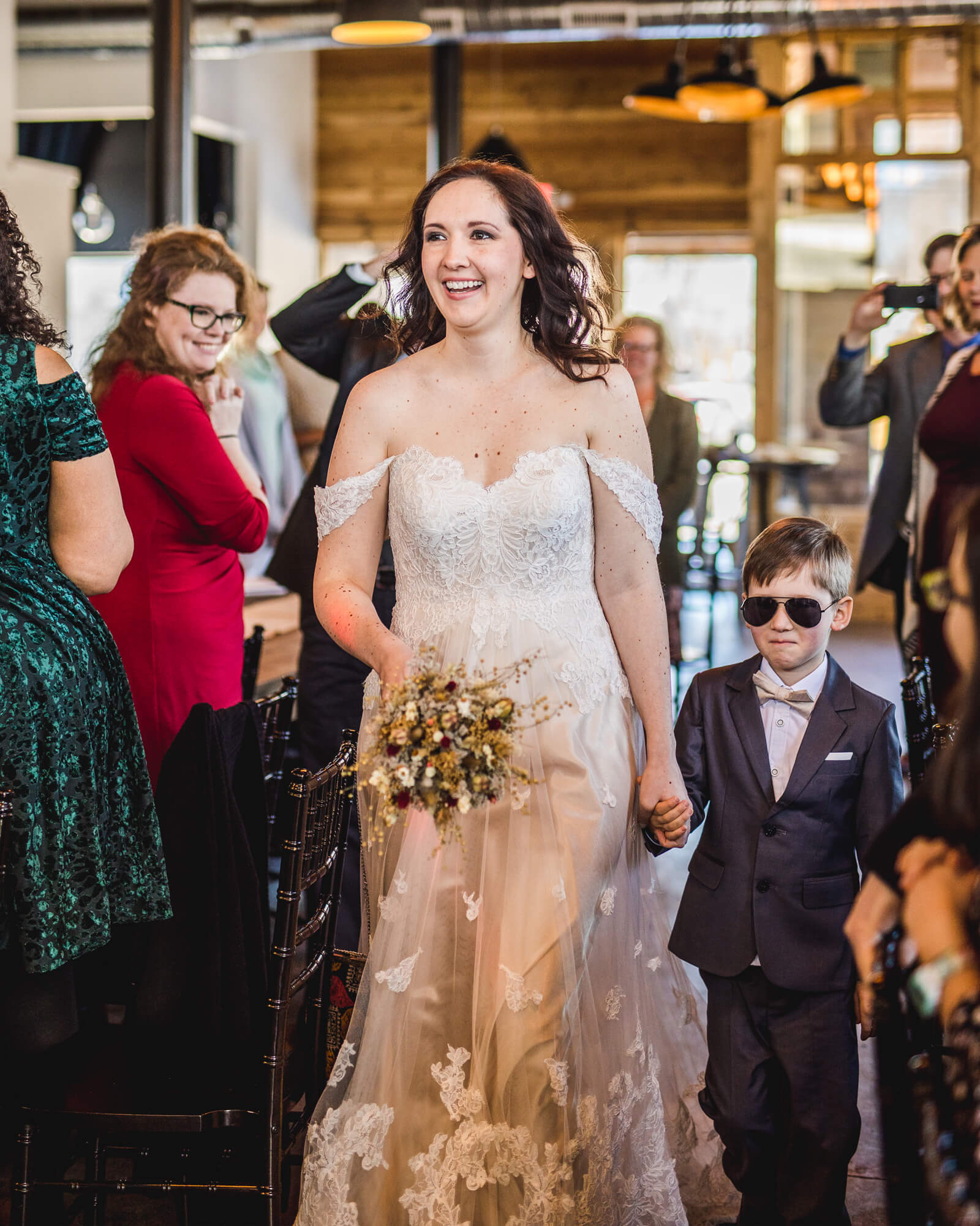 Walking Down the Aisle - Mom's Little Superhero