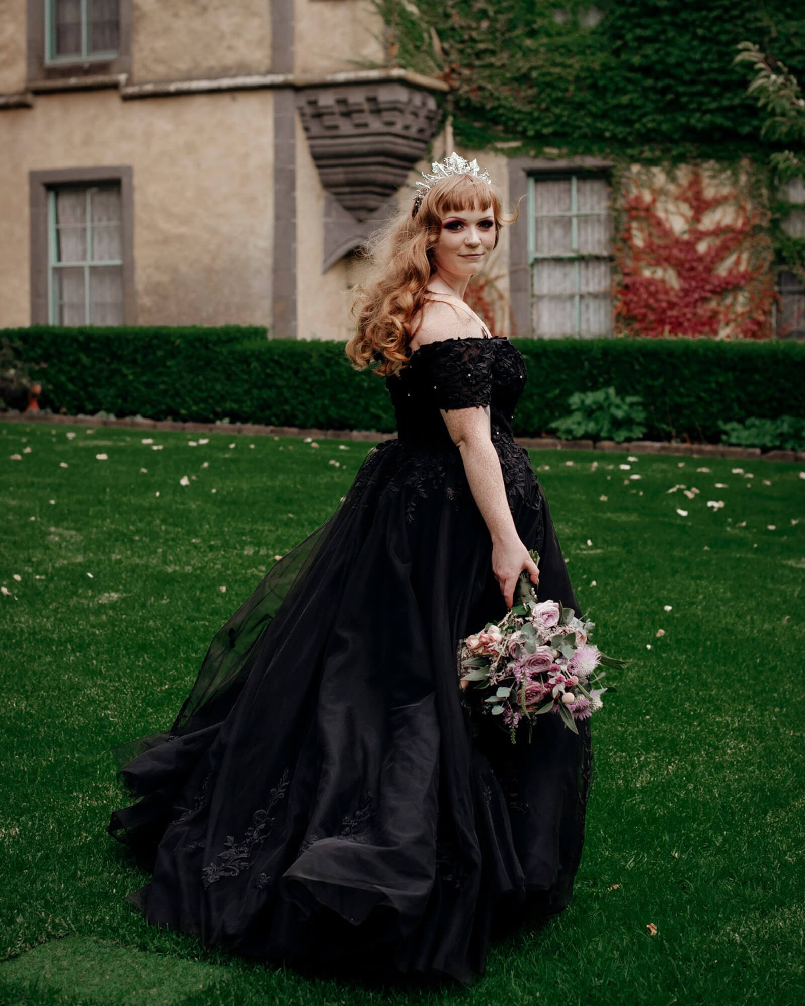 How Gorgeous Emalee looks in the black wedding dress