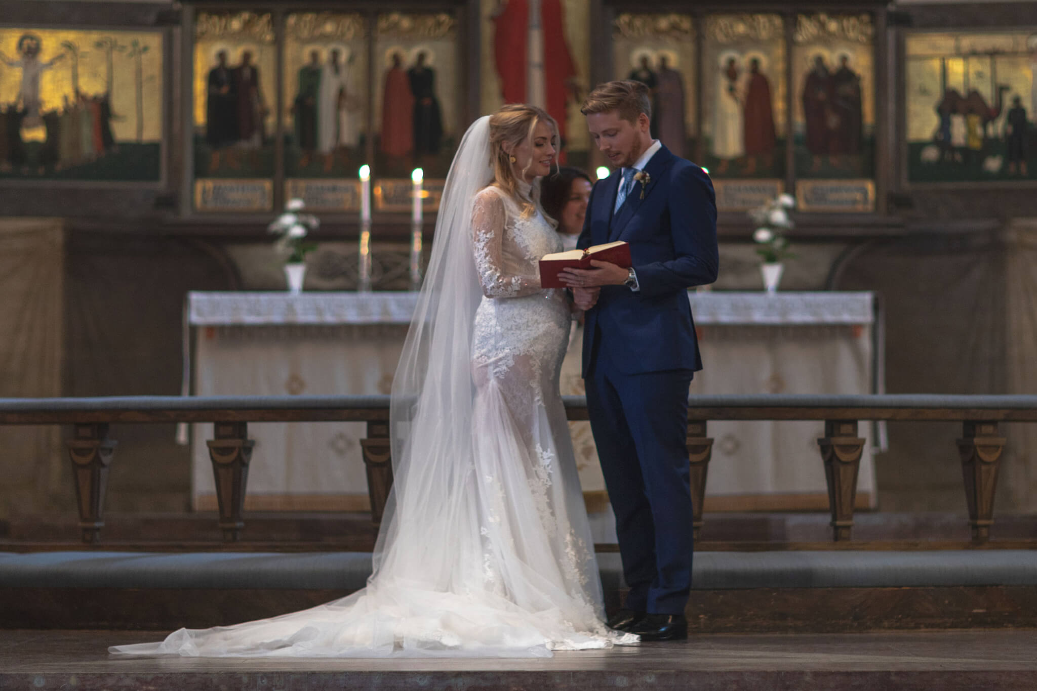 Exciting Bridal Moment - Exchanging wedding Vows