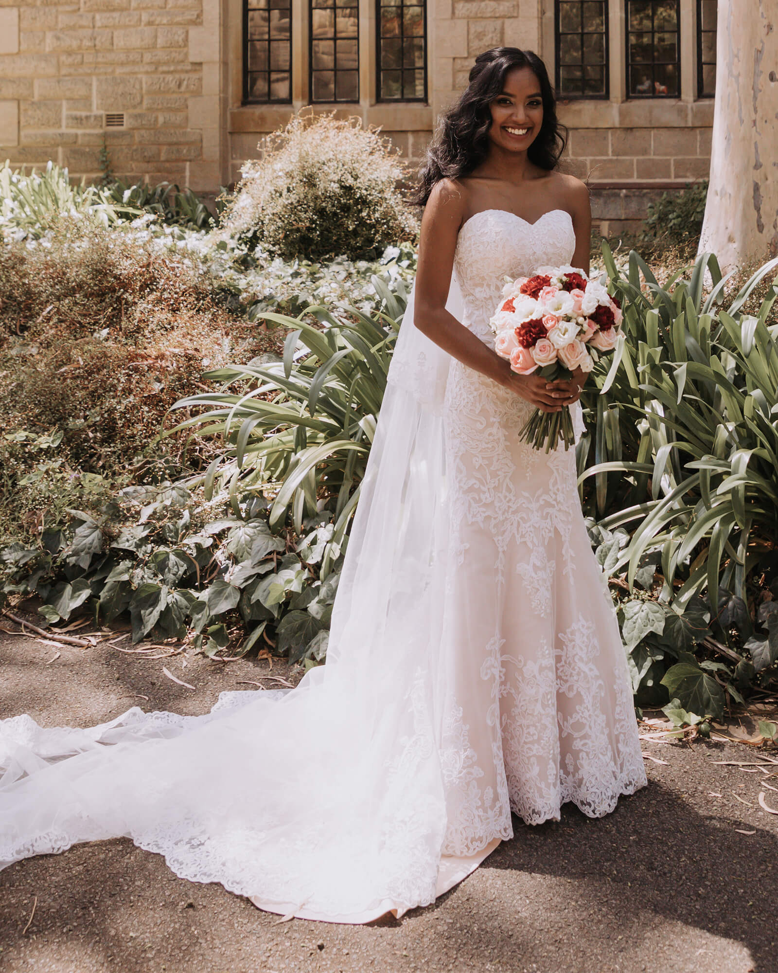 Myosha Looked absolutely stunning in her dream cocomelody wedding dress
