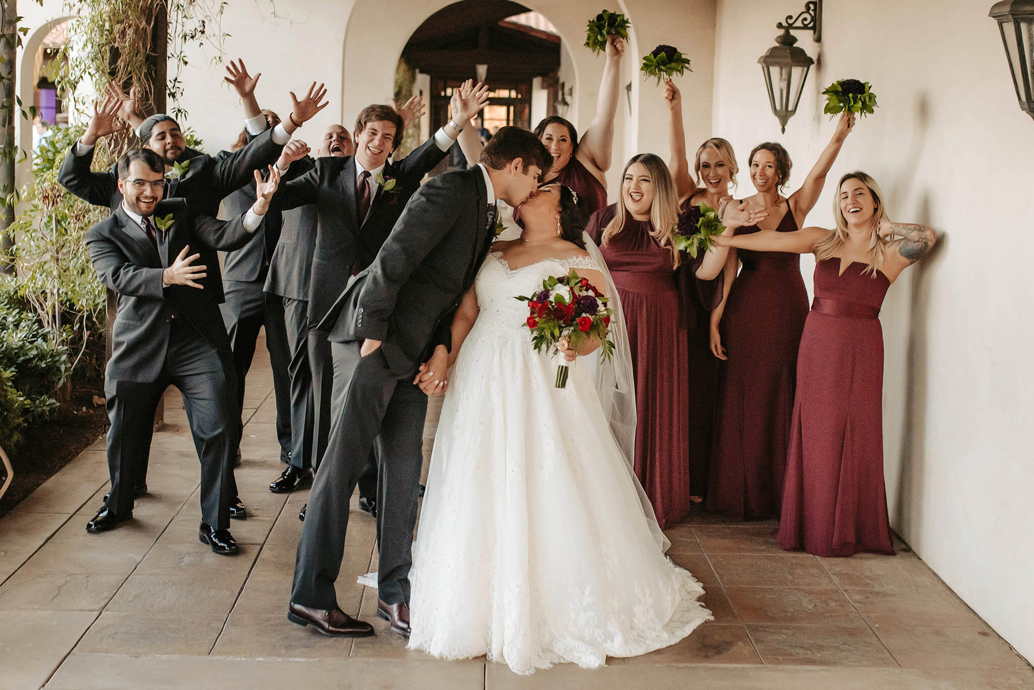 A wedding day must-have? Your tried-and-true crew.