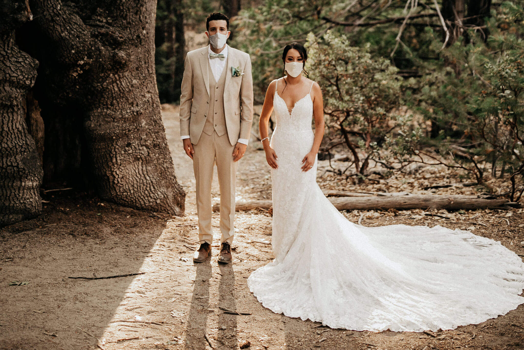 We are in love with Alejandra & Roy's Woodland Wedding